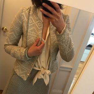Grey patterned Zara blazer - XS